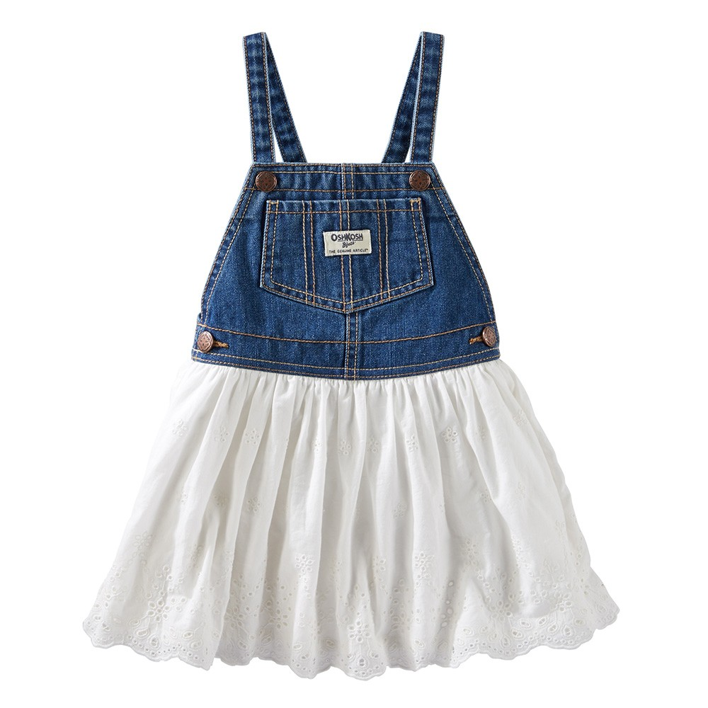 8a5a56df2695 OshKosh Eyelet Lace Denim Skirtall - Baby Girl