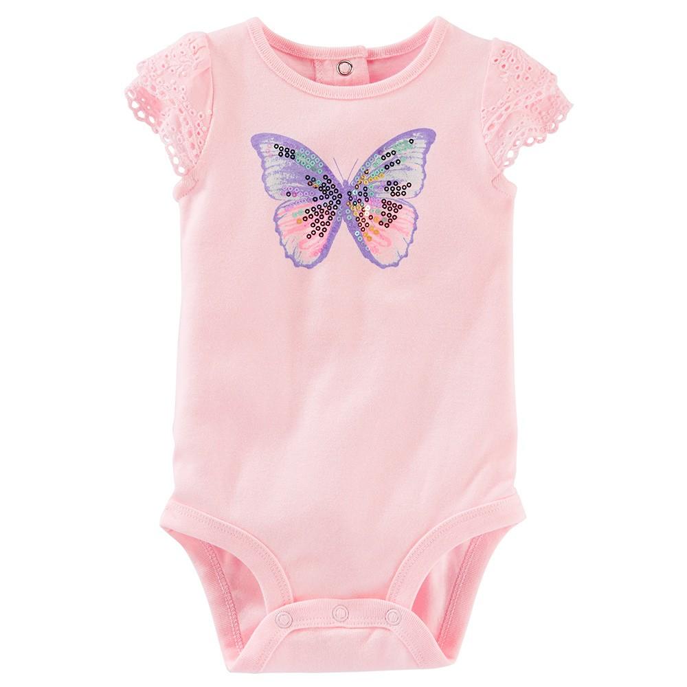 53e142a0de0c OshKosh Print Flutter-Sleeve Bodysuit