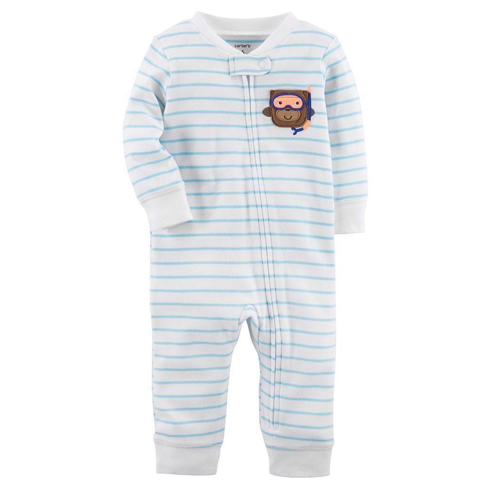 d3f66814a Carter's Zip-Up Cotton Sleep & Play Onepiece - Baby Boy
