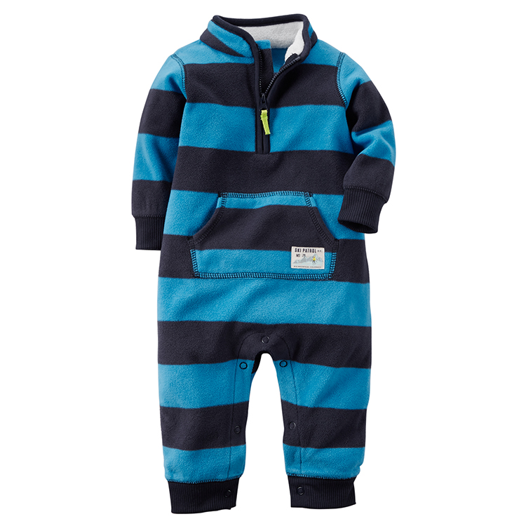10d271f3c419 Carter s stripe Micro Fleece One piece