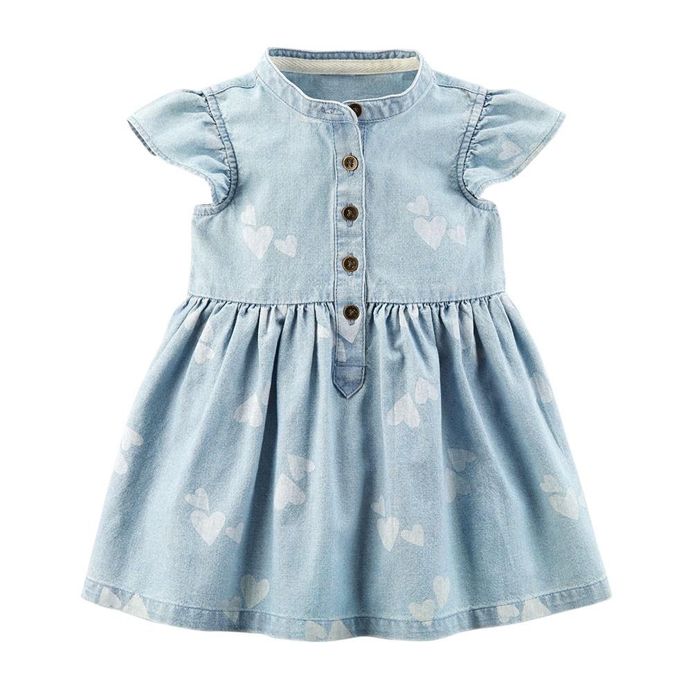 3c85d878d Carter's Heart Chambray Shirt Dress - Baby Girl