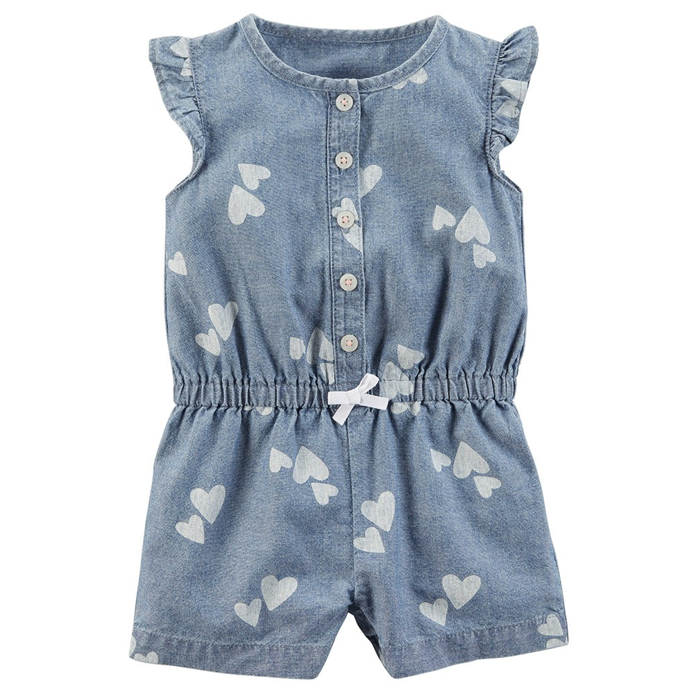 297bacb9c8ad Carter s Chambray Romper - Baby Girl