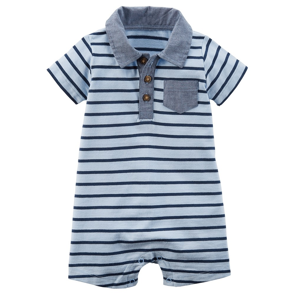 bd4d28399aa15 Carter's Striped Romper - Baby Boy
