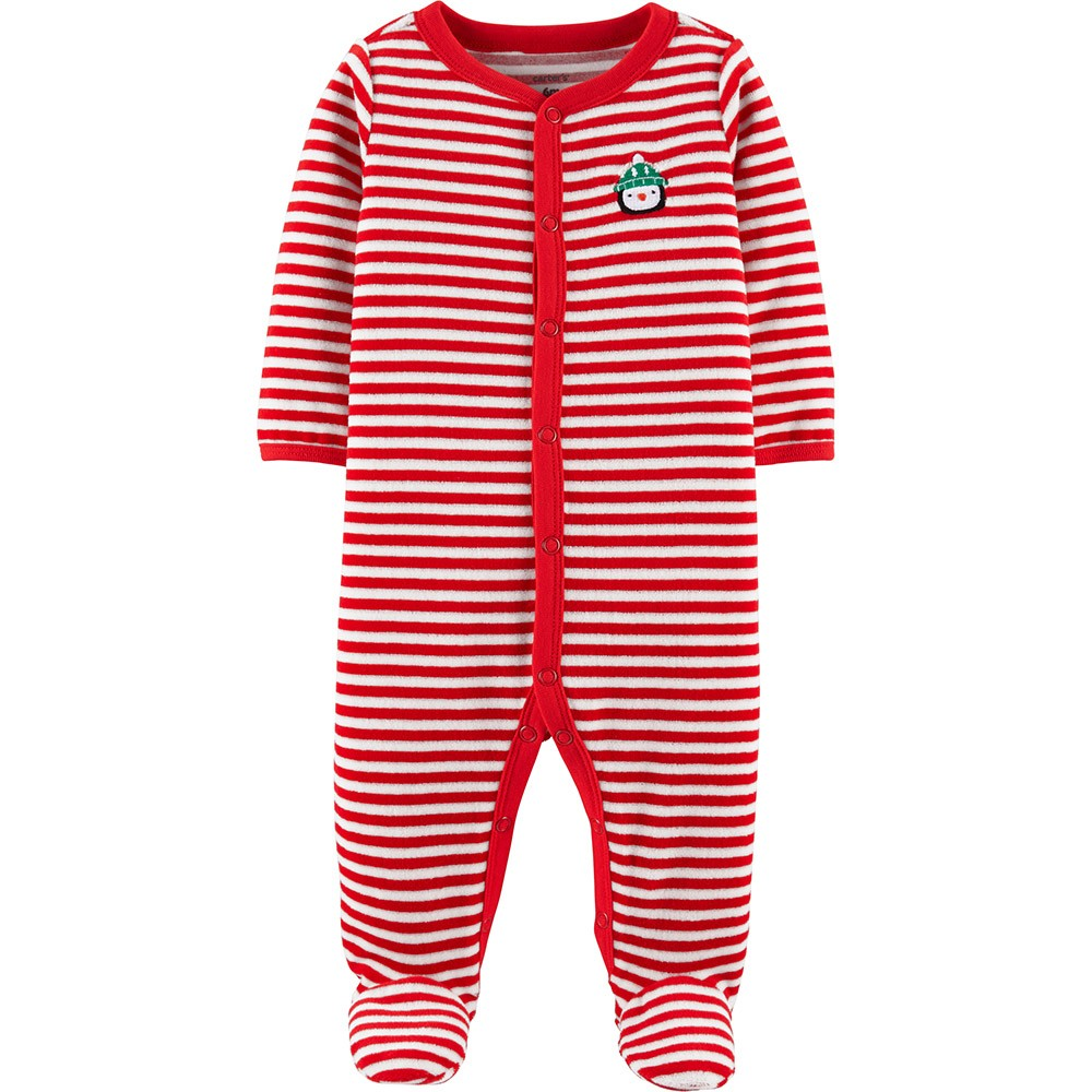 19c6af33b949 Carter s Christmas Snap-Up Velour Sleep   Play Onepiece