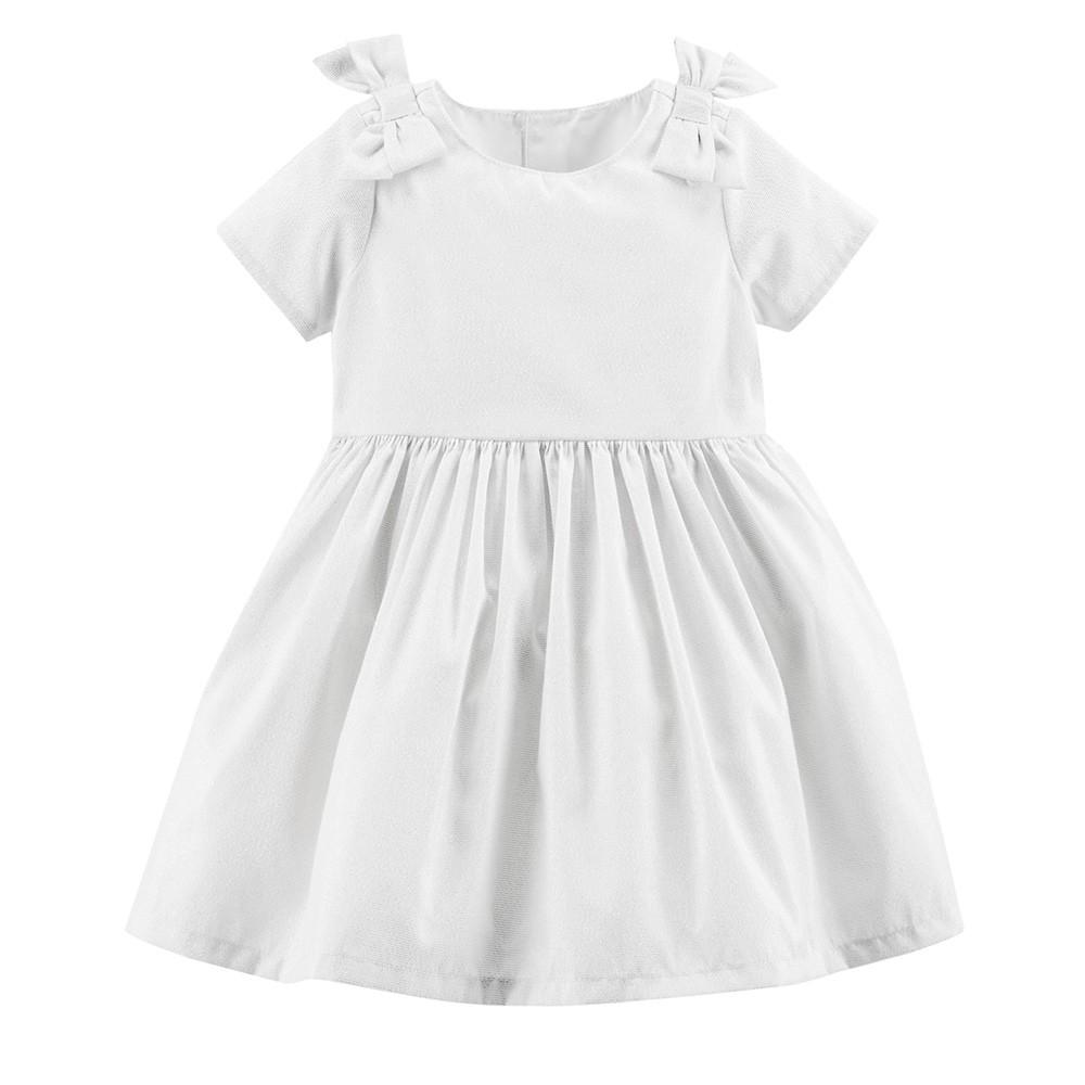 fd57f3fd4216e Carter's Bow Metallic Holiday Dress - Baby Girl