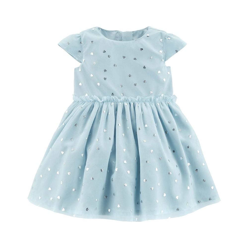 5d852ce73155 Carter s Silver Heart Tulle Dress