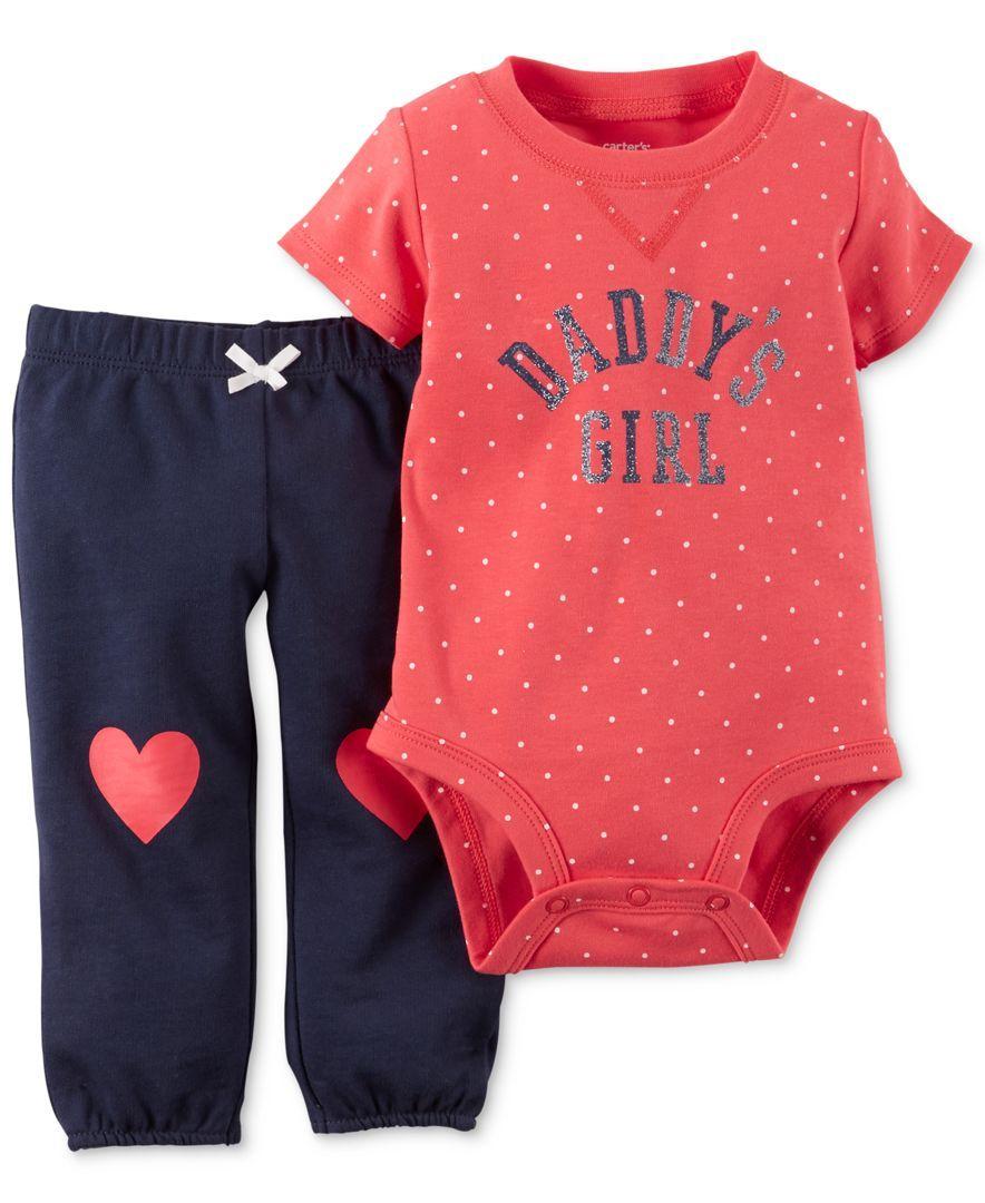 e21ef0d56357 Carter's Red Dot 2 Piece Bodysuit & Pant Set - Baby Girl