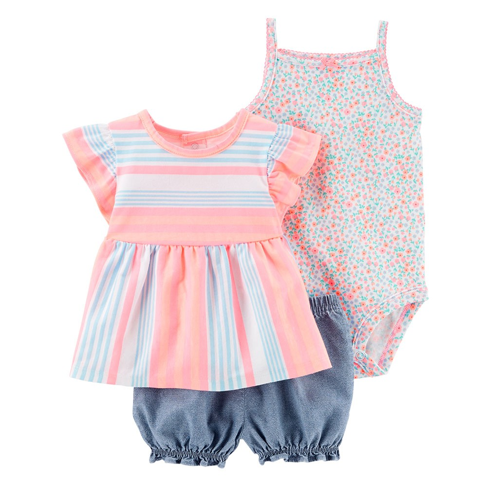 177a5dc7a Carter's 3PC Little Short Set - Baby Girl