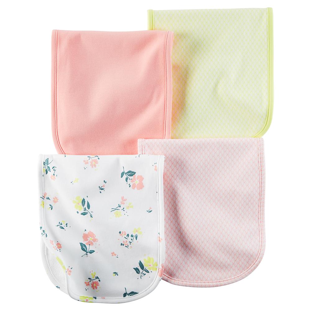 Carter S 4pk Burp Cloth Baby Girl