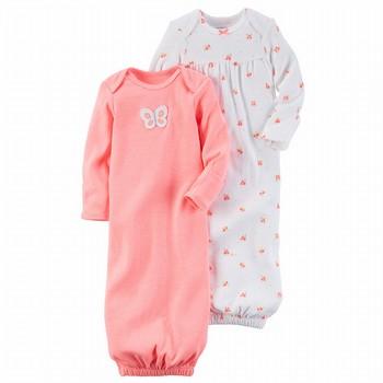 dda7c11656d3 Carter's Hello Love 2PK Babysoft Neon Sleeper Gowns Set - Baby Girl