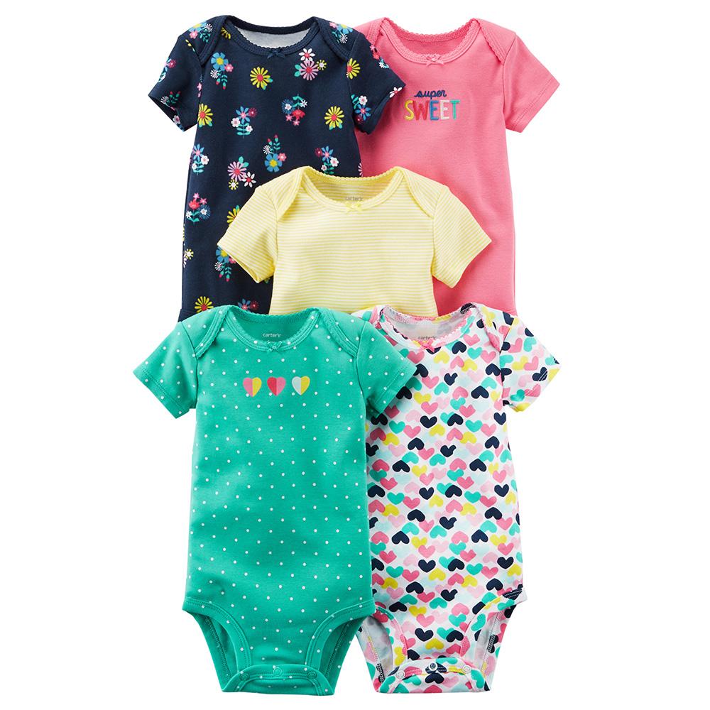 b0dfbd284fe Carter s 5PK S S Original Bodysuit Pack - Baby Girl