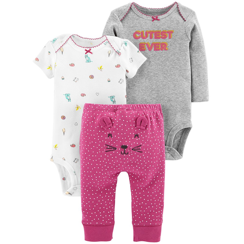 Carter S 3pc Little Character Set Baby Girl