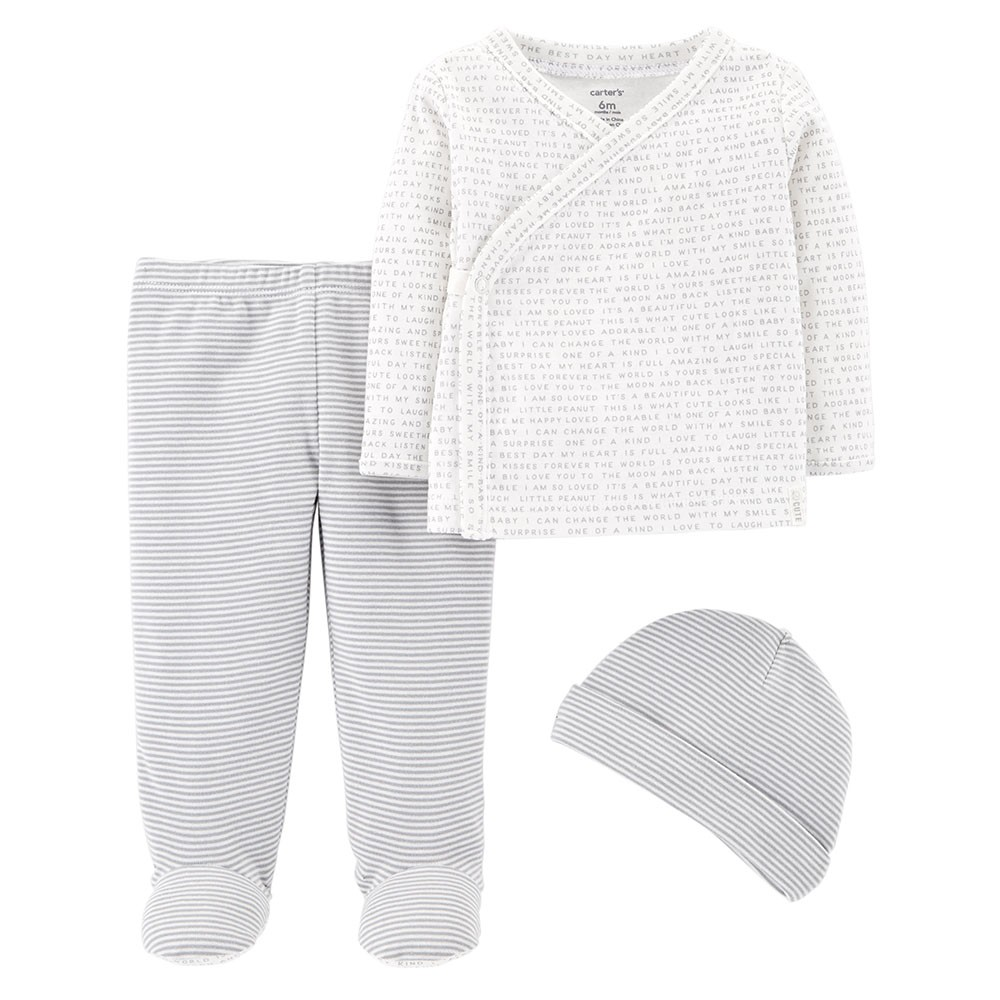 820951feb207 Carter s 3PC Footed Pant Set - Baby Unisex