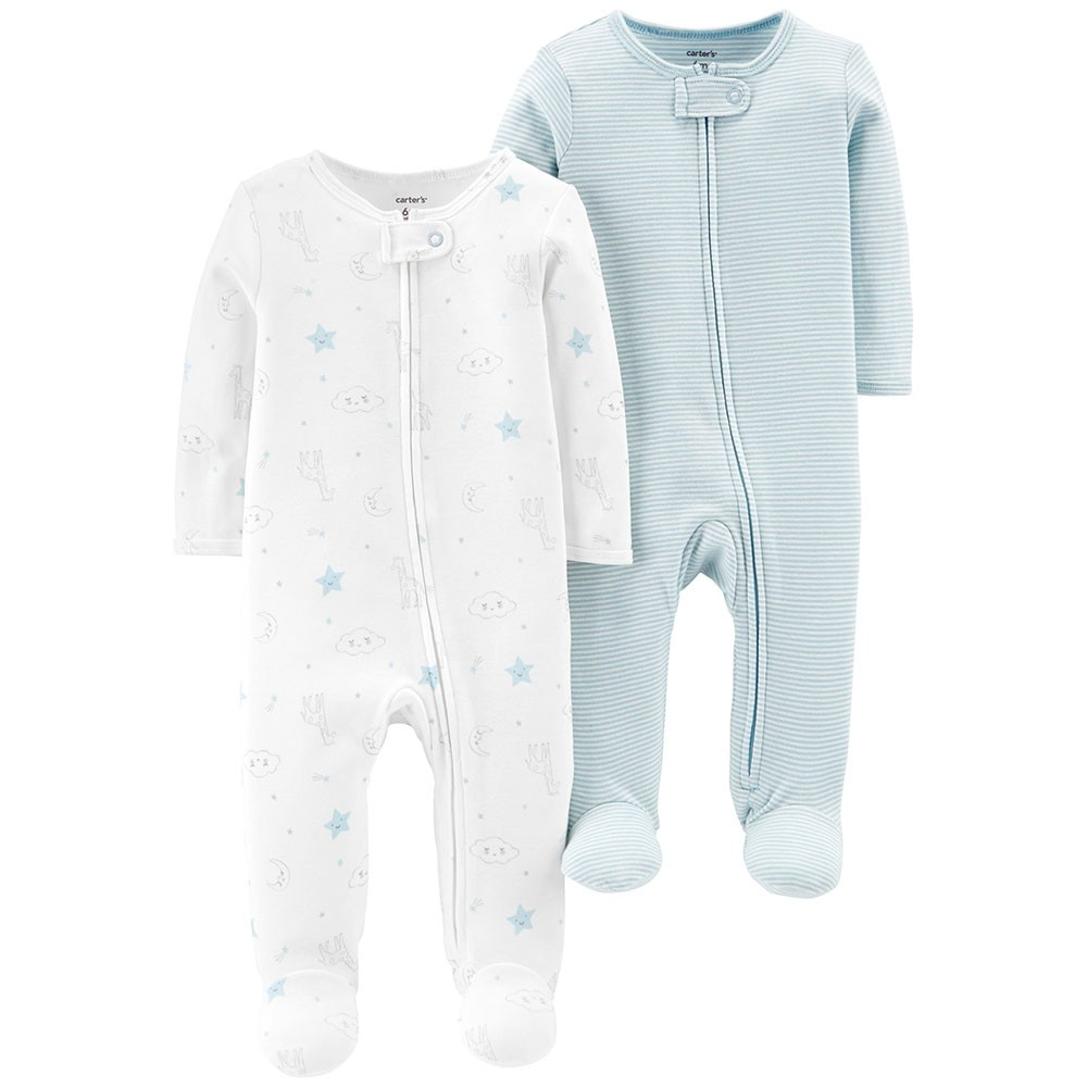 a0c7f0dbe5e8 Carter s 2PK Zip-Up Cotton Sleep   Play