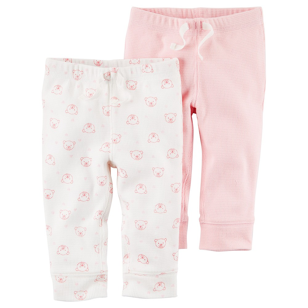 41d6b6125 Carter's 2PK Babysoft Pants - Baby Girl
