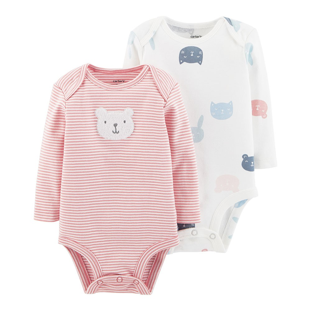 98b4e725d Carter's 2PK Bear Bodysuits - Baby Girl
