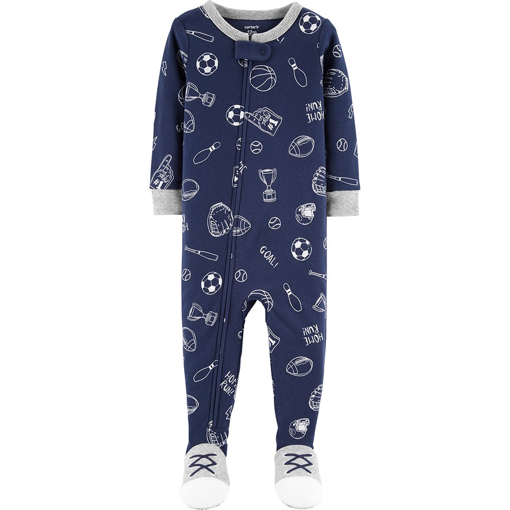 9eb244290 Carter's Snug Fit Cotton Onepiece Footed PJs - Baby Boy