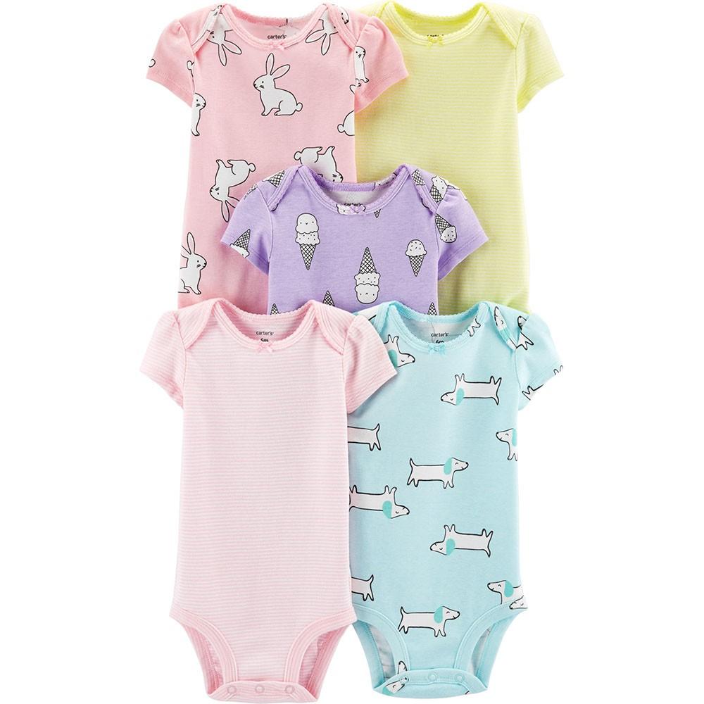 1f485b736 Carter's 5PK S/S Original Bodysuits - Baby Girl