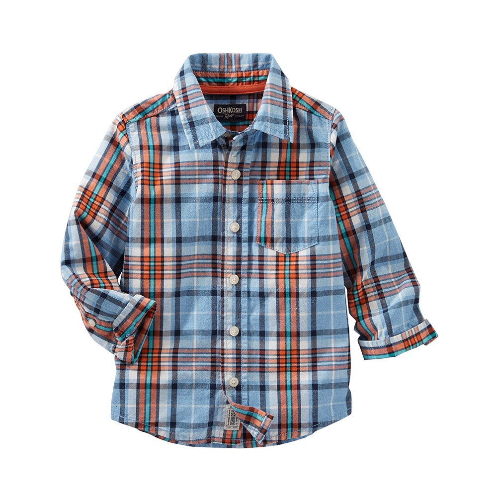 15e233f9c699 OshKosh Plaid Button-Front Shirt