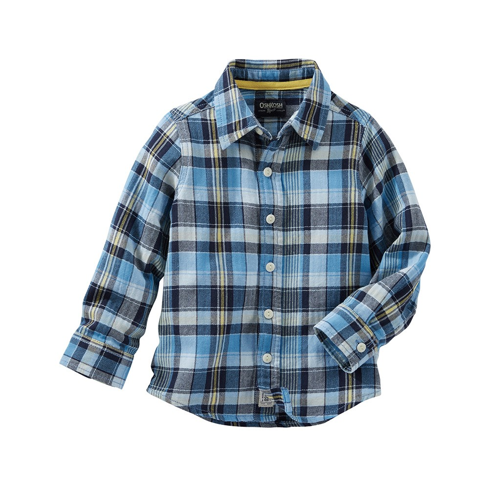 4c325917f371 OshKosh Plaid Herringbone Button-Front Shirt