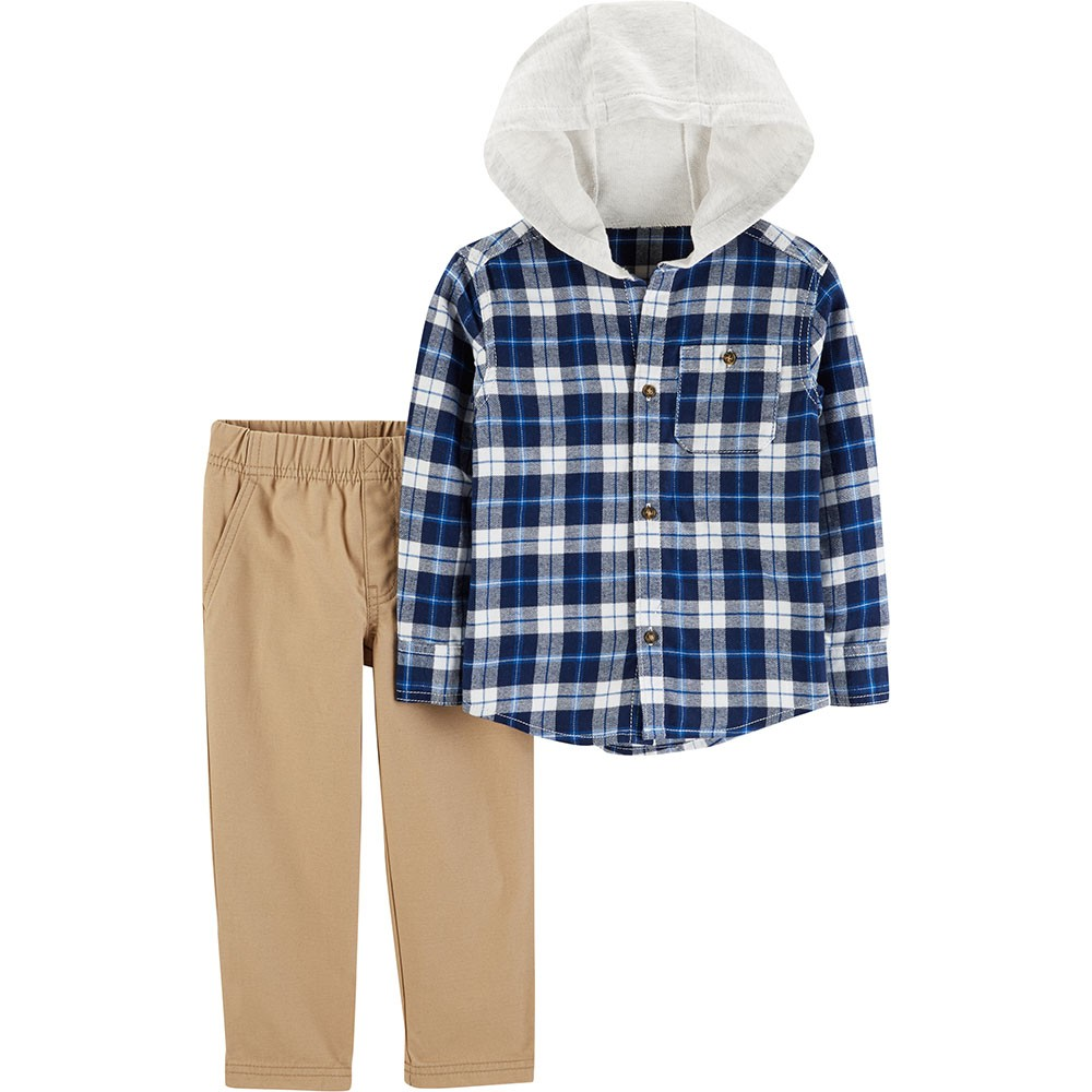 2fdd81276 Carter s 2PC Hooded Flannel   Pant Set