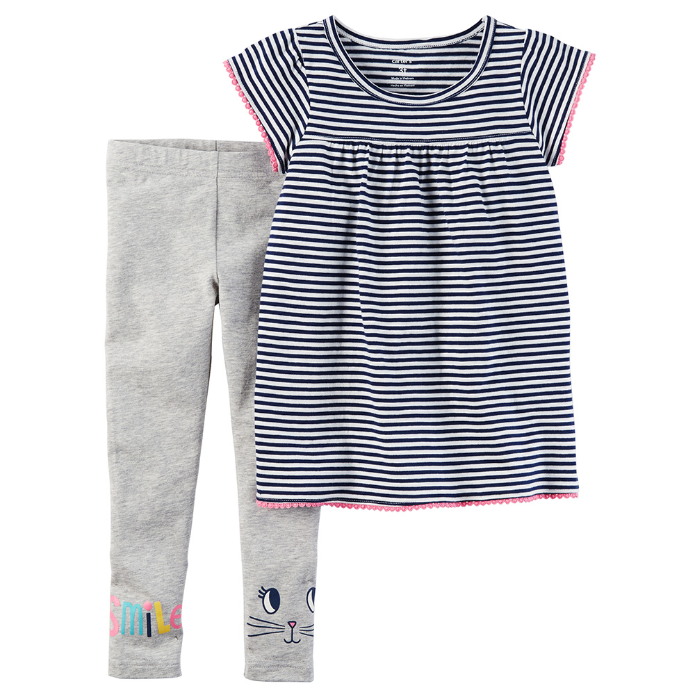 5d25c447282 Carter's 2PC Striped Tunic & Legging Set - Baby Girl