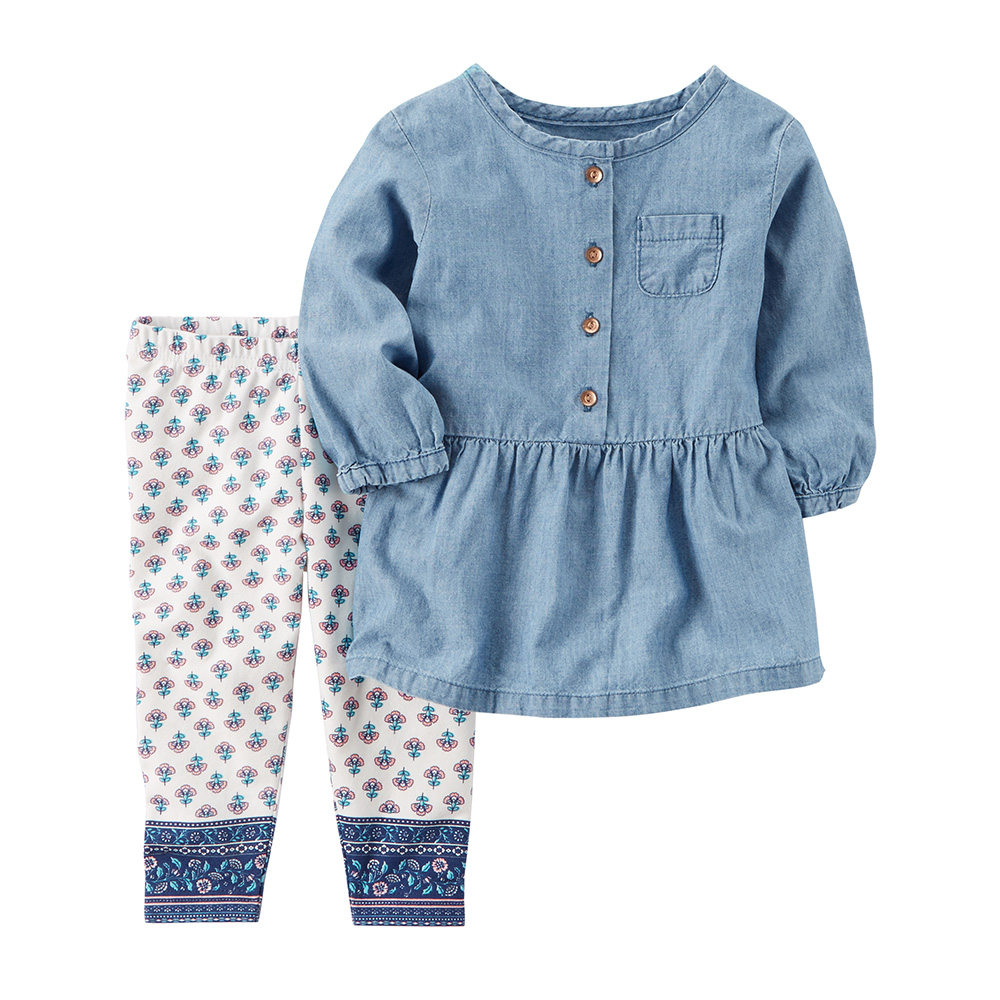 68f375c3f5b Carter's 2PC Chambray Tunic & Legging Set - Baby Girl