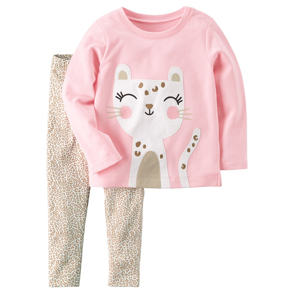 4c1813ae6 Carter's 2PC French Terry Top & Legging Set - Baby Girl