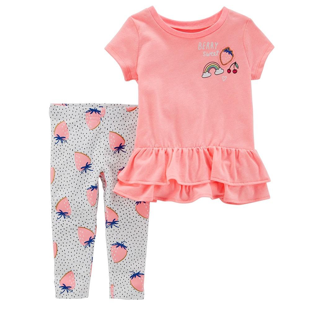 da8d6690 Carter's 2PC Berry Top & Legging Set - Baby Girl
