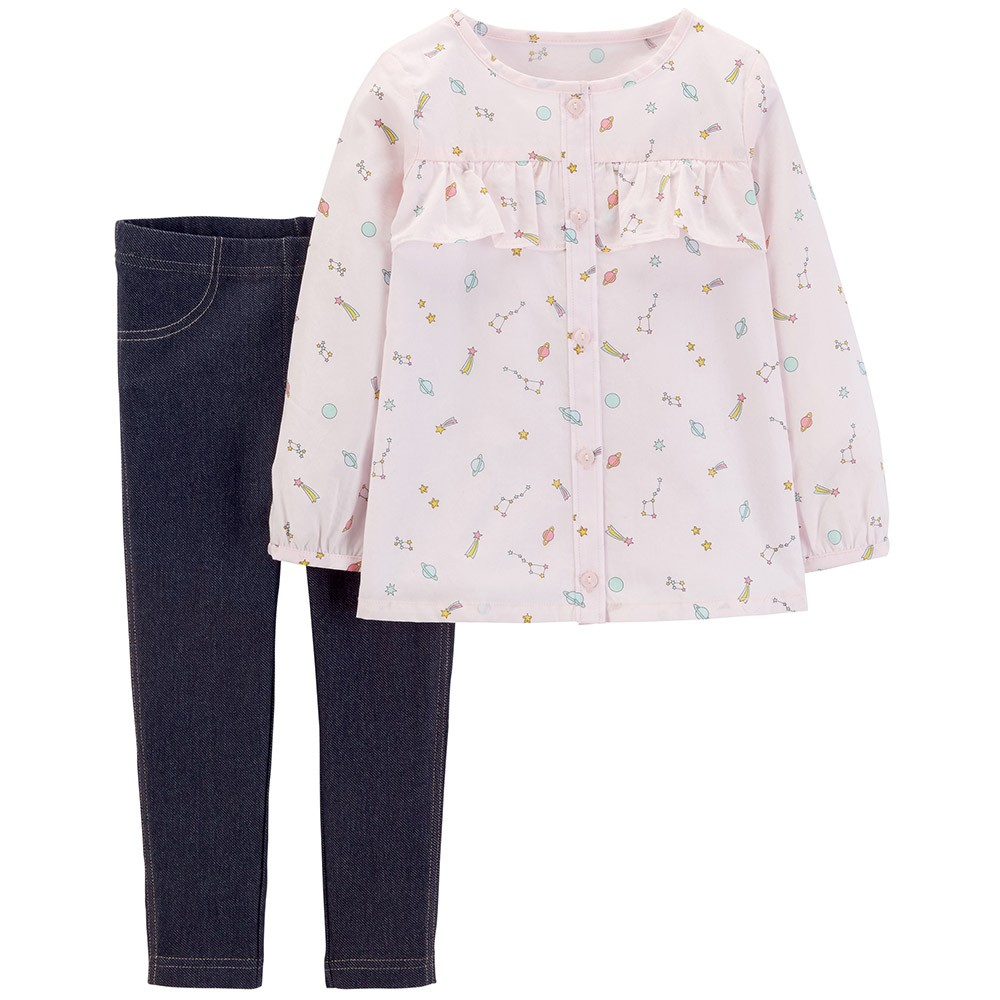779afc135 Carter's 2PC Space Button-Front & Jegging Set - Baby Girl