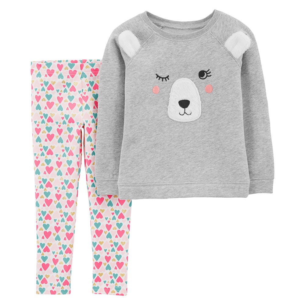 fc47697fd523 Carter s 2PC Bear Fleece Top   Legging Set