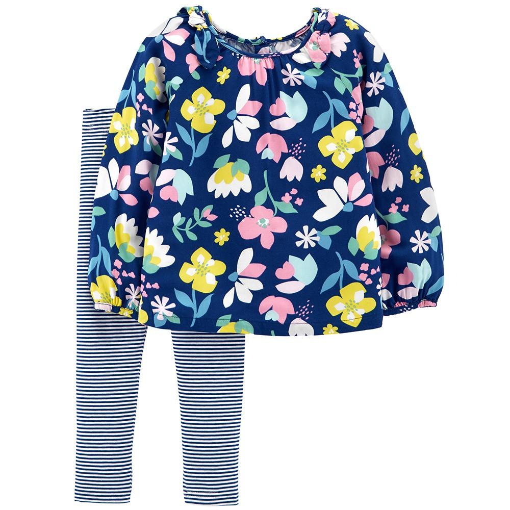 6b14a94c4f149 Carter's 2PC Floral Top & Legging Set - Toddler Girl