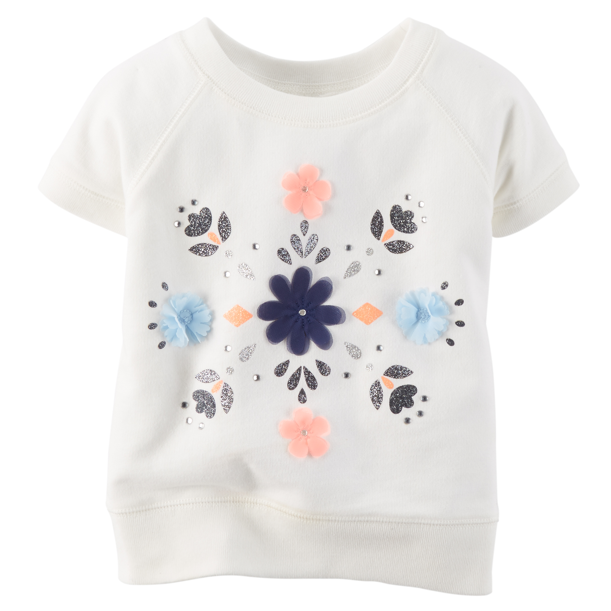 155a786df7c3 Carter's Pink & White Flower Graphic T-Shirt - Girl