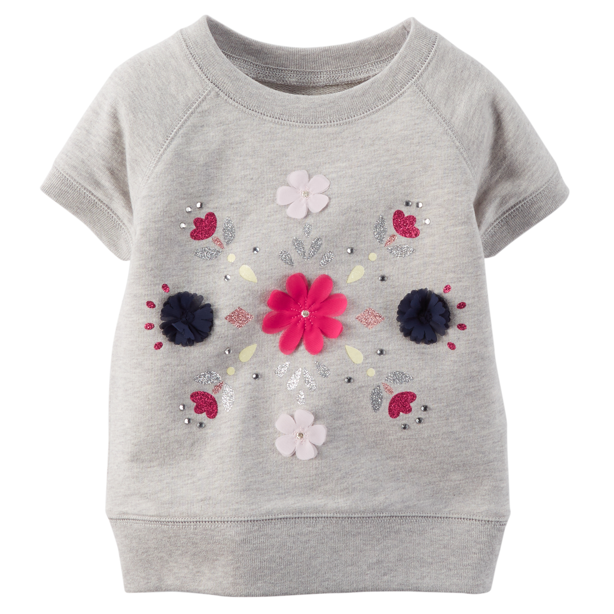 38ae5f0983fa Carter's Pink & Grey Flower Graphic T-Shirt - Girl