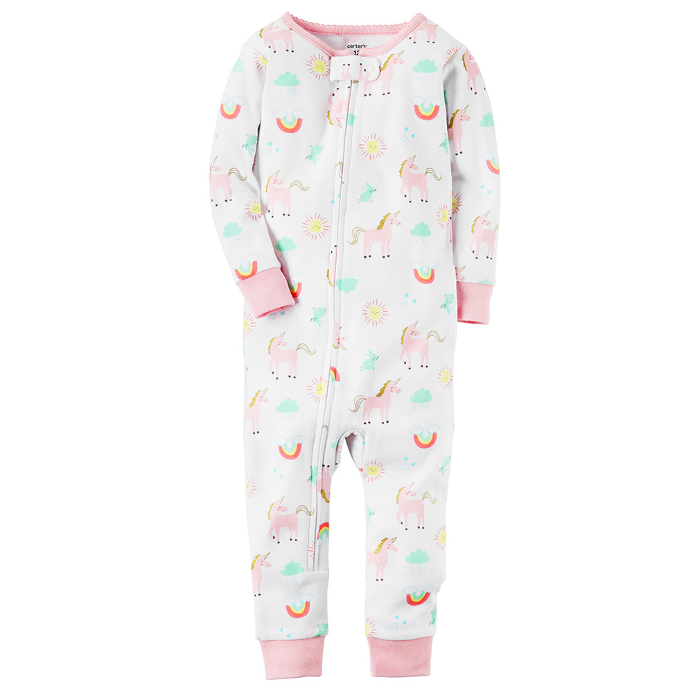 Carter s Snug Fit Cotton Footless Onepiece PJs - Baby Girl e2a6fb35e